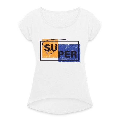 MT AA 000043 - Camiseta con manga enrollada mujer