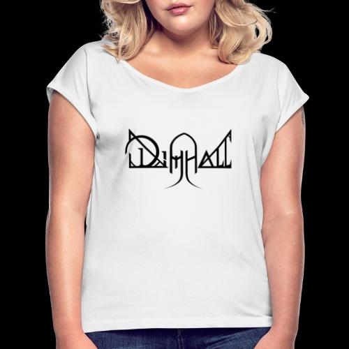 Dimhall Black - Women's T-Shirt with rolled up sleeves