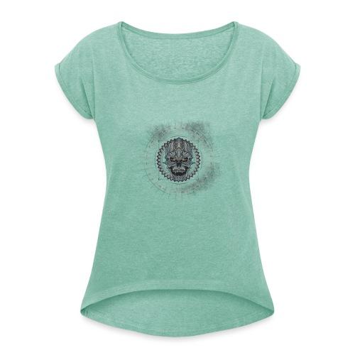 Premium - T-shirt à manches retroussées Femme
