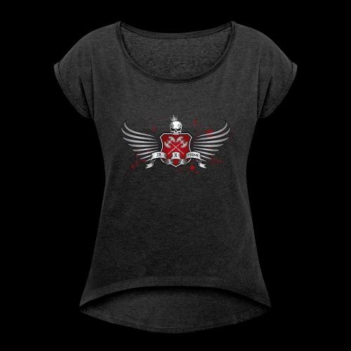 CrossFit Tuusula - Naisten T-paita, jossa rullatut hihat