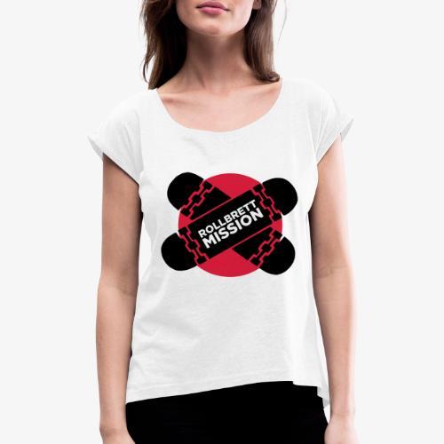 Mission Nippon - Frauen T-Shirt mit gerollten Ärmeln