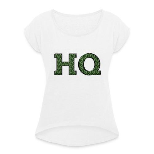 HQ LOGO 4 - Vrouwen T-shirt met opgerolde mouwen