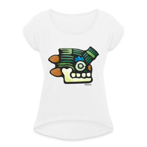 Aztec Icon Grass - Women's T-Shirt with rolled up sleeves