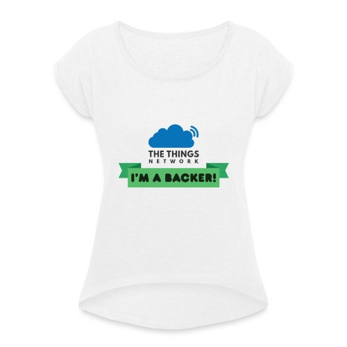The Things Network Backers - Vrouwen T-shirt met opgerolde mouwen