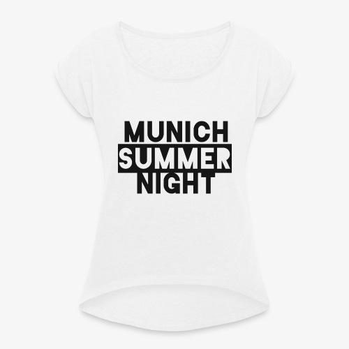 MSN - Frauen T-Shirt mit gerollten Ärmeln