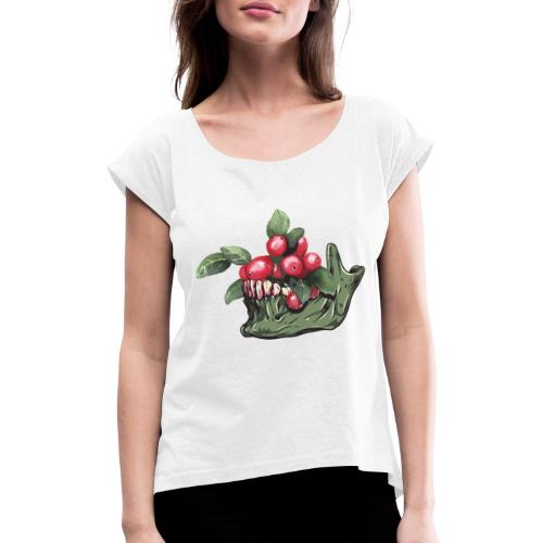 Skull Vegan - T-shirt à manches retroussées Femme