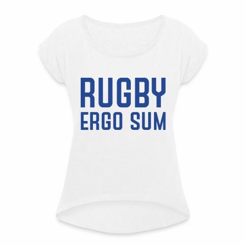 Marplo RugbyergosUM BLU - Maglietta da donna con risvolti