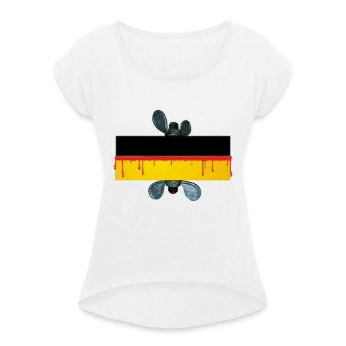 sozial geht anders ... - Frauen T-Shirt mit gerollten Ärmeln