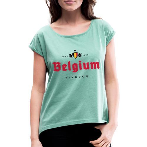 Bierre Belgique - Belgium - Belgie - T-shirt à manches retroussées Femme