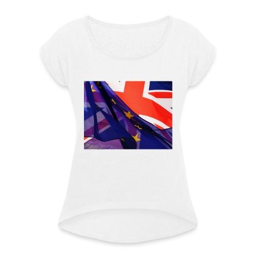 Europa exit - Maglietta da donna con risvolti