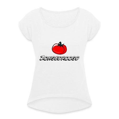 ZONGEDROOGD - Vrouwen T-shirt met opgerolde mouwen