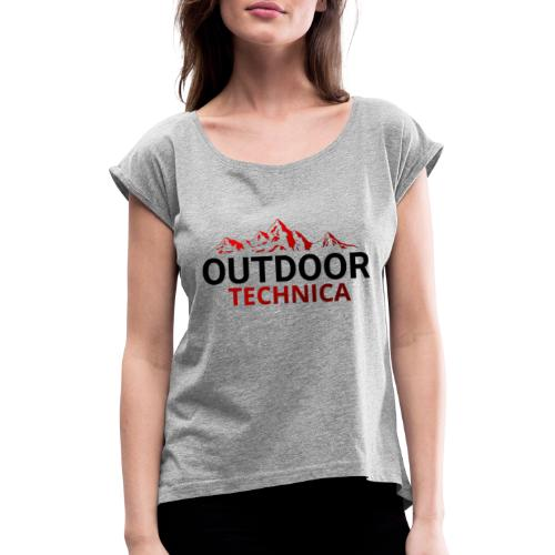 Outdoor Technica - Women's T-Shirt with rolled up sleeves