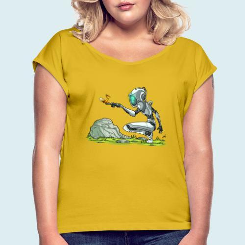 funny robot - Maglietta da donna con risvolti