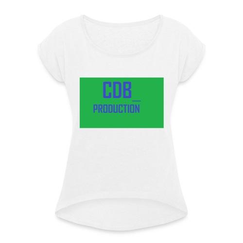 CDB_P - T-skjorte med rulleermer for kvinner