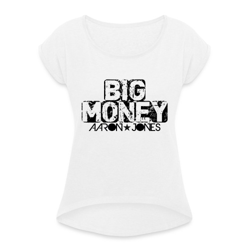 Big Money aaron jones - Maglietta da donna con risvolti