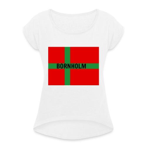 BORNHOLM - Dame T-shirt med rulleærmer