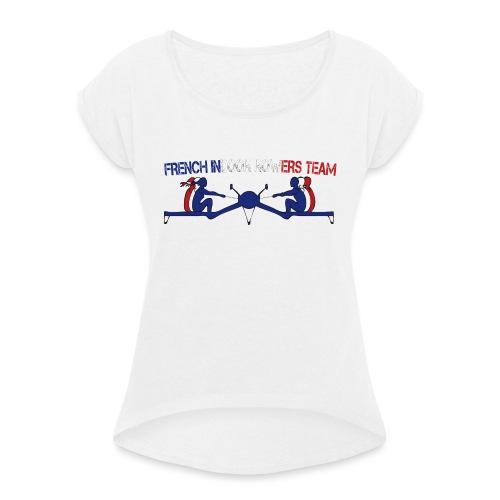 FIRT - T-shirt à manches retroussées Femme