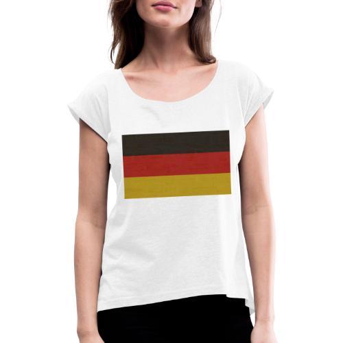 Germany - Frauen T-Shirt mit gerollten Ärmeln