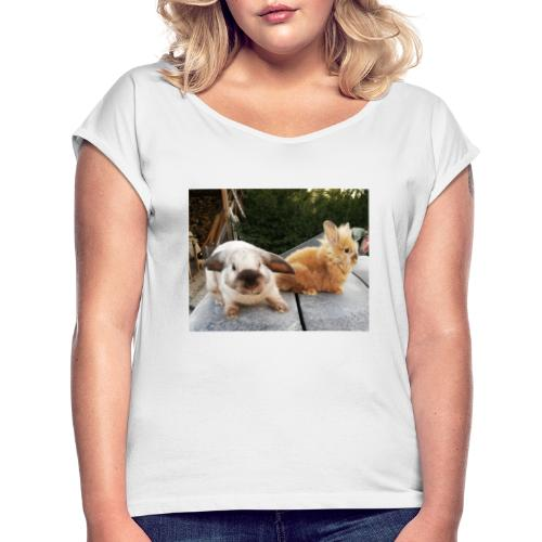 Nouche en Ninou - Vrouwen T-shirt met opgerolde mouwen