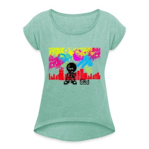Magliette personalizzate bambini Dancefloor - Maglietta da donna con risvolti