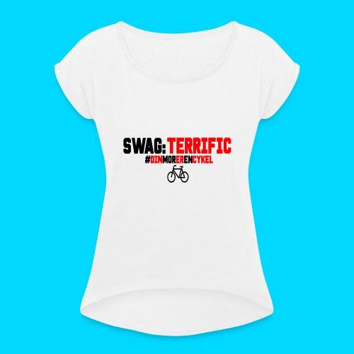 Cykel2-png - Dame T-shirt med rulleærmer