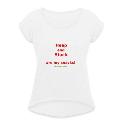 Stack Snack - Shellcode.it - Maglietta da donna con risvolti