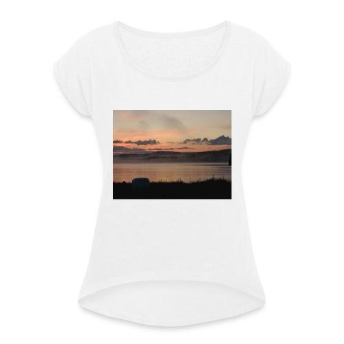 Himmel i Tornedalen - T-shirt med upprullade ärmar dam