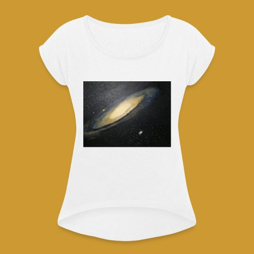 Andromeda - Mark Noble Art - Women's T-Shirt with rolled up sleeves