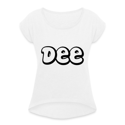 Dee Teddy Bear! - Vrouwen T-shirt met opgerolde mouwen
