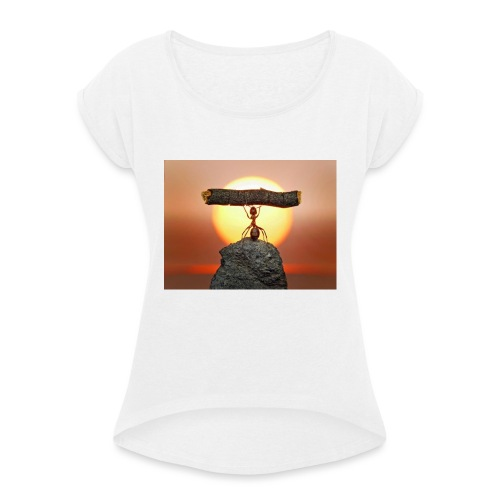 formica-innamorata_jpeg - Maglietta da donna con risvolti