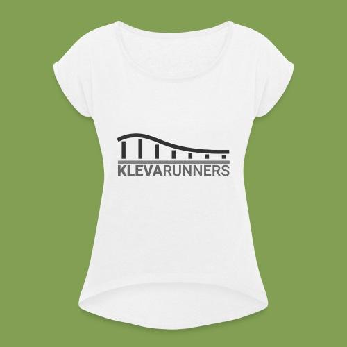 Kleva Runners Logo - T-shirt med upprullade ärmar dam