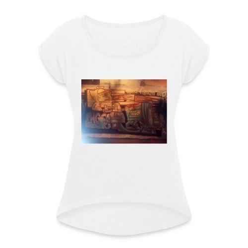 graffiteur - T-shirt à manches retroussées Femme