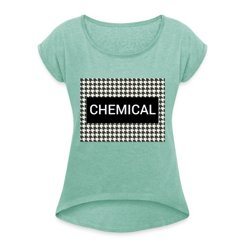 CHEMICAL - Maglietta da donna con risvolti
