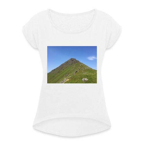 Fjell - T-skjorte med rulleermer for kvinner