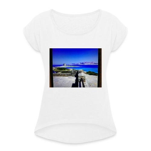Stintino - Maglietta da donna con risvolti
