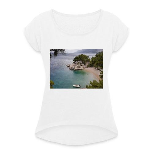 IMG 20180628 WA0008 Loveit - Frauen T-Shirt mit gerollten Ärmeln