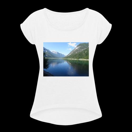 Landschaft - Frauen T-Shirt mit gerollten Ärmeln