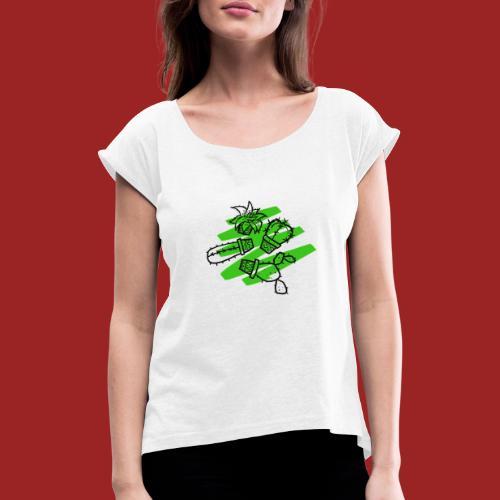 spinous life - Maglietta da donna con risvolti