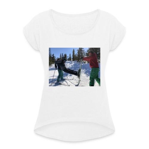 Spaßrunde - Frauen T-Shirt mit gerollten Ärmeln