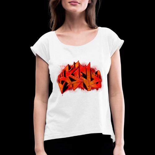 Kiel Graffiti - Frauen T-Shirt mit gerollten Ärmeln