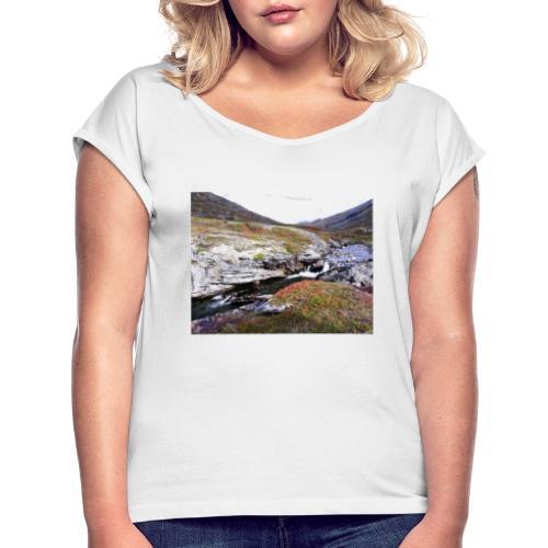 Norway - T-shirt med upprullade ärmar dam