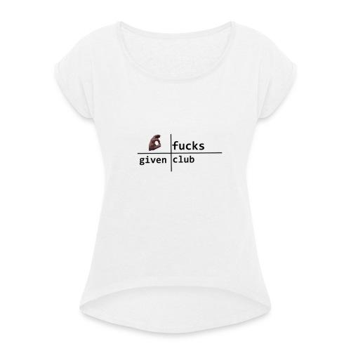 zerofofficalclub - Frauen T-Shirt mit gerollten Ärmeln