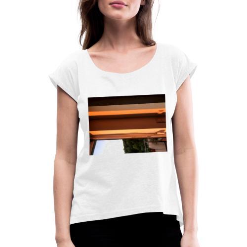 Sonnenstrahlen - Frauen T-Shirt mit gerollten Ärmeln