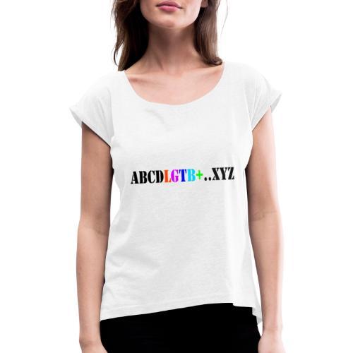 lgtb - Camiseta con manga enrollada mujer