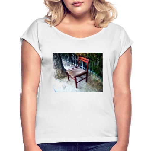 silla - Camiseta con manga enrollada mujer