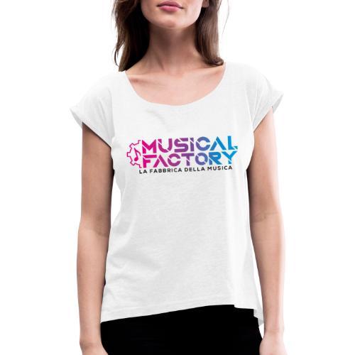 Musical Factory Sign - Maglietta da donna con risvolti