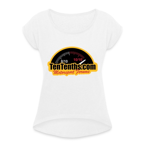 3Colour_Logo - Women's T-Shirt with rolled up sleeves
