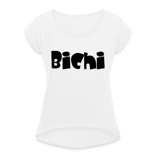 bichi camiseta - Camiseta con manga enrollada mujer