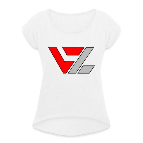 vusionZ | Peace - Frauen T-Shirt mit gerollten Ärmeln