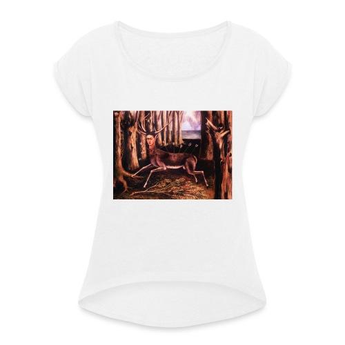 Frida01 - Maglietta da donna con risvolti
